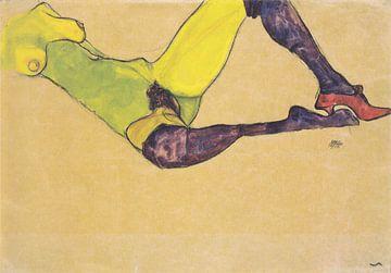 Liegender weiblicher Akttorso, Egon Schiele - 1910 von Atelier Liesjes
