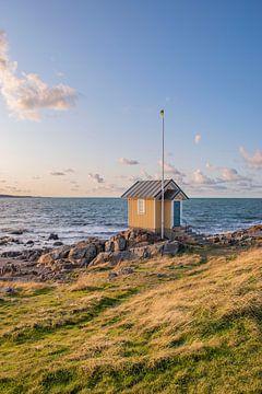 Gelbes Häuschen am Meer von Bianca Kramer