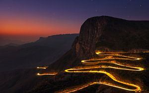Leba Pass bij zonsondergang, Angola van