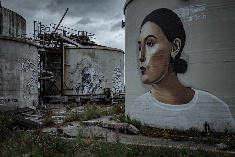 Graffiti-Silos von Robbert Wille