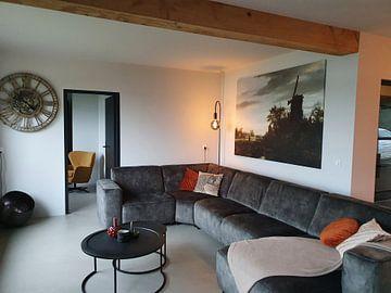 Kundenfoto: Landschaft mit einer Windmühle, Jacob van Ruisdael