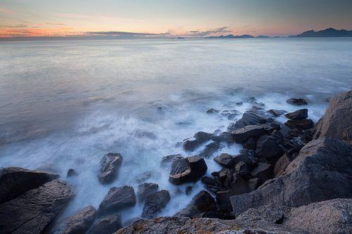 Kliffen van Lofoten Noorwegen van