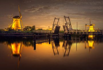 Windmühlen von Kinderdijk von Dennis Donders