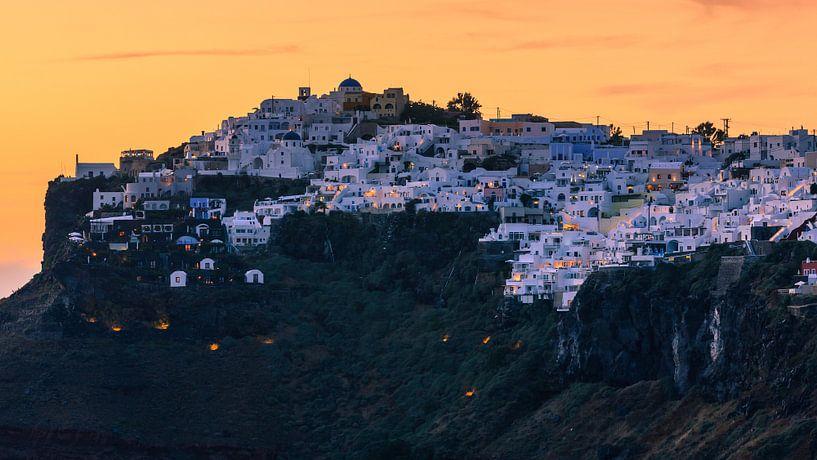 Zonsondergang, Imerovigli, Santorini van Henk Meijer Photography
