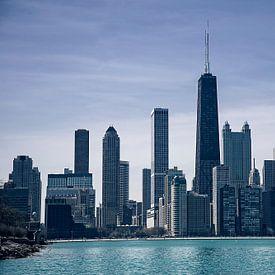 Chicago Skyline van VanEis Fotografie