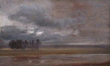 Die Elbe im Regen, Johan Christian Dahl