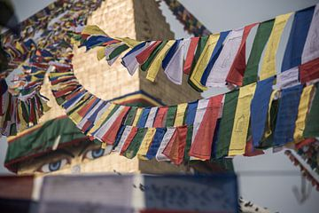 Gebetsfahnen an der Bouddhanath-Stupa in Kathmandu | Nepal von Photolovers reisfotografie