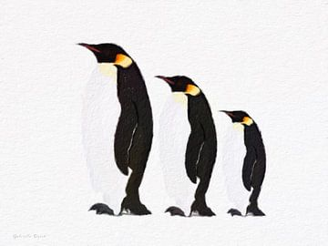 Pinguin Familie van Gabriella David
