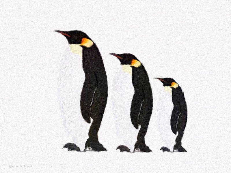 Pinguin Familie von Gabriella David