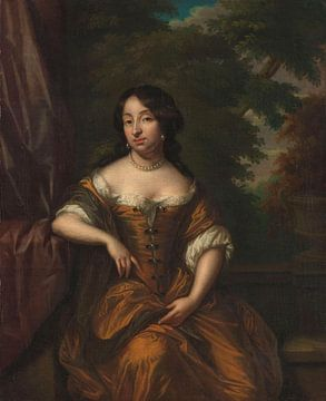 Portrait d'Anna Maria Hoeufft, épouse de Jan Boudaen Courten, Caspar Netscher sur