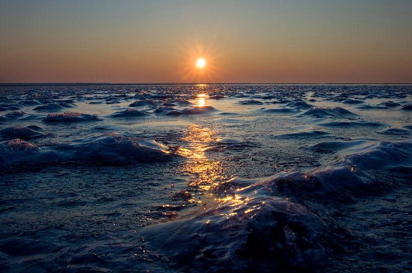 Bevroren Waddenzee van Bo Scheeringa