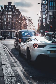 Ferrari 488 in London streets van
