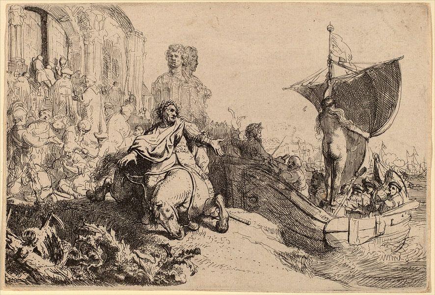 Rembrandt van Rijn , Het schip van Fortuin van Rembrandt van Rijn
