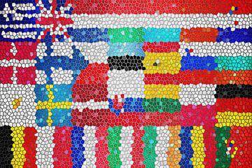 Vlaggen van de Unie 6: glas in lood van
