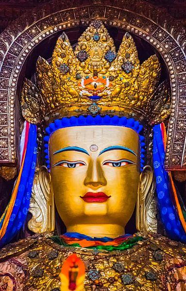Boeddha in Palcho klooster, Tibet van Rietje Bulthuis