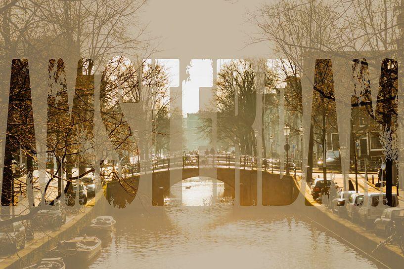De Herengracht in Amsterdam van Koop je Canvas