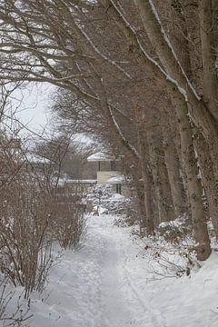 Modernes Anwesen im Schnee. von Hans Monasso