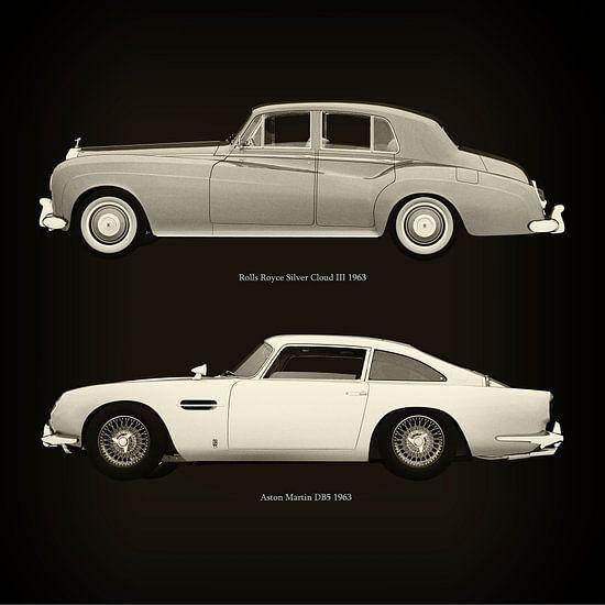 Rolls Royce Silver Cloud III 1963 en Aston Martin DB5 1963