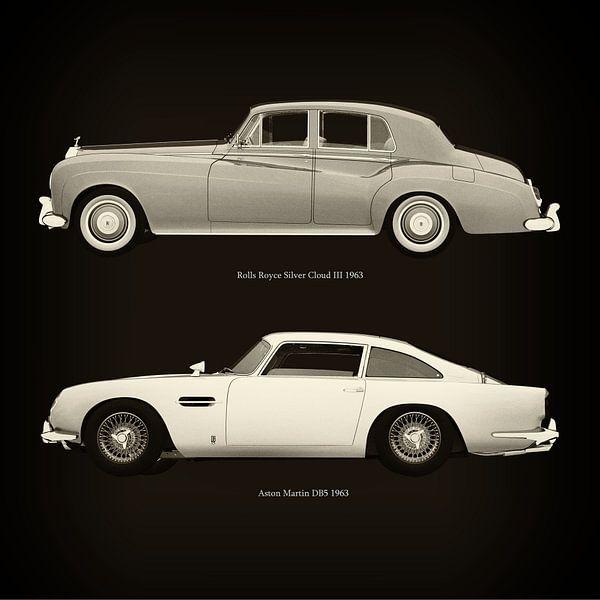 Rolls Royce Silver Cloud III 1963 en Aston Martin DB5 1963 van Jan Keteleer