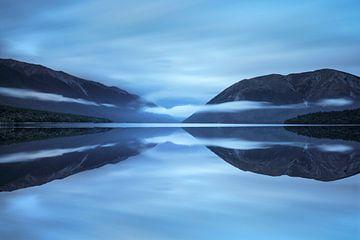 Nebelschwaden über Lake Rotoiti, Nelson Lakes National Park; Neuseeland von Markus Lange