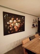 Kundenfoto: Ein Blumenkranz, Jan Davidsz. de Heem, auf leinwand