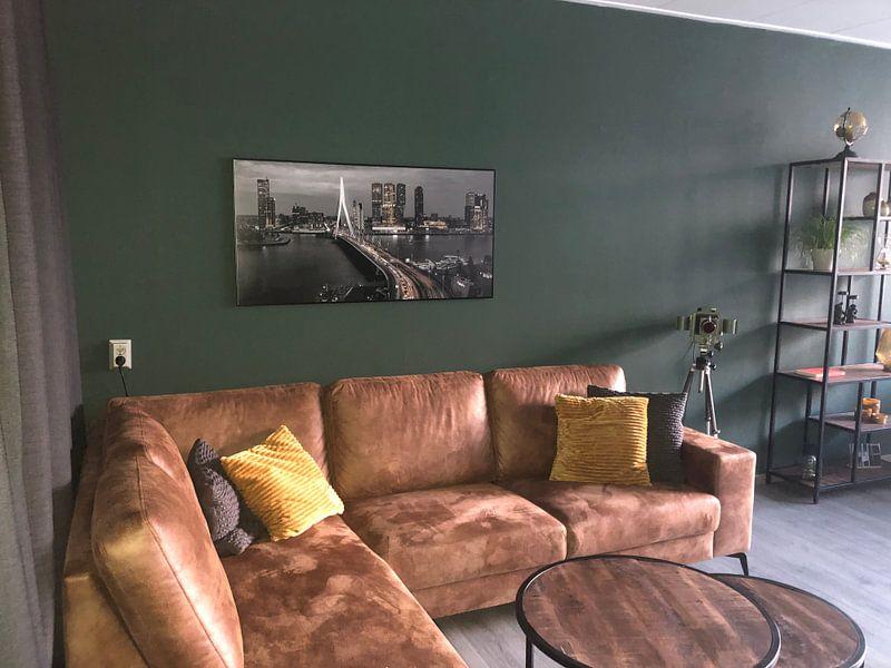 Photo de nos clients: Skyline Rotterdam de nuit - Rotterdam Finest! sur Sylvester Lobé, sur poster