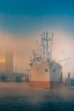 Hamburg, Port, Elbe, Fog, Cap San Diego van Ingo Boelter