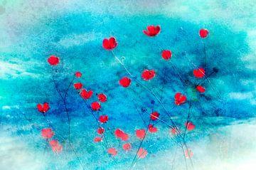 Rood in blauw van Corinne Welp