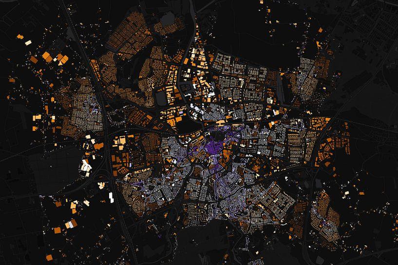 Kaart van Breda abstract van Stef Verdonk