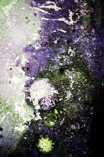 Junk art purple green van Patricia Verbruggen