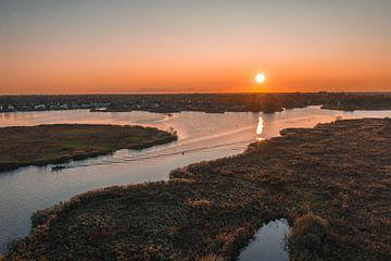 Friesischer Sonnenuntergang von Marjon Boerman
