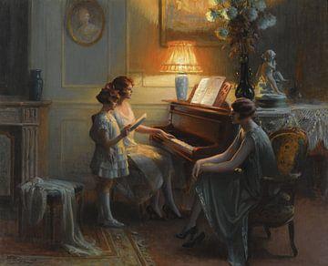 La classe de chant, Delphin Enjolras (1857-1945) sur Atelier Liesjes