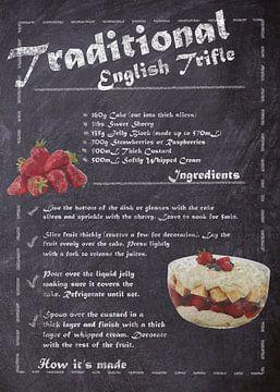 Recipe Dessert - English Trifle van JayJay Artworks