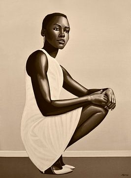 Lupita Nyong'o Painting sur Paul Meijering