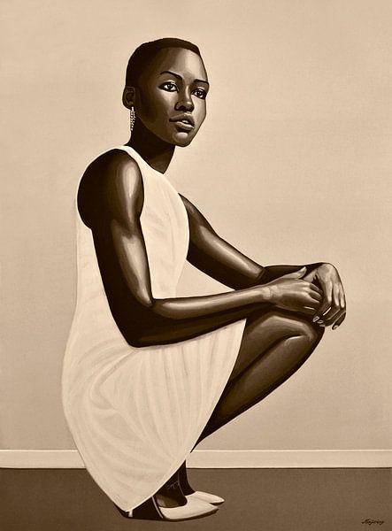 Lupita Nyong'o Schilderij