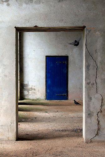 de blauwe deur van