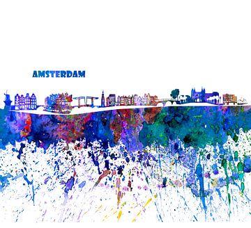 Amsterdamse skyline van Markus Bleichner