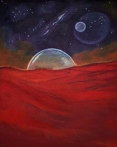 Kosmische Malerei, Ölgemälde, Mars von Celine Seelemann