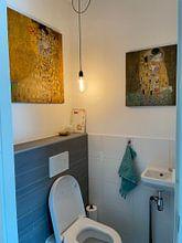Kundenfoto: Der Kuss - Gustav Klimt, auf leinwand