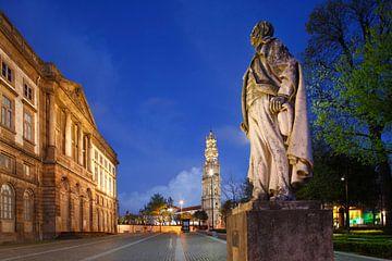 Igreja e Torre dos Clerigos und Museum  bei Abenddmmerung, Porto, Distrikt Porto, Portugal, Europa