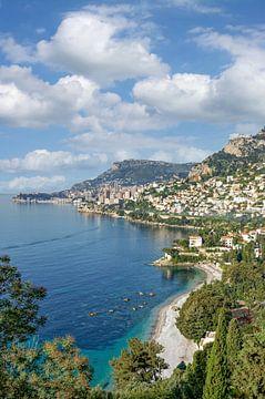 Uitzicht op Monaco van Peter Eckert