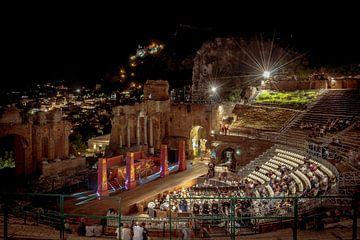 Grieks Romeins Theater Taormina Sicilie van Mario Calma