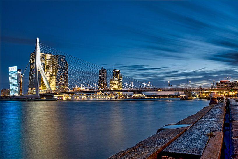Erasmusbrücke Rotterdam von Wim van Beelen