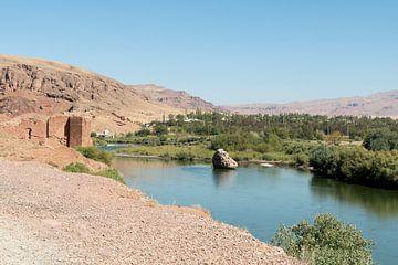 Iran: Landschap tussen Tabriz en Shoja van Maarten Verhees