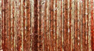 Bomen in de herfst van Marion Tenbergen