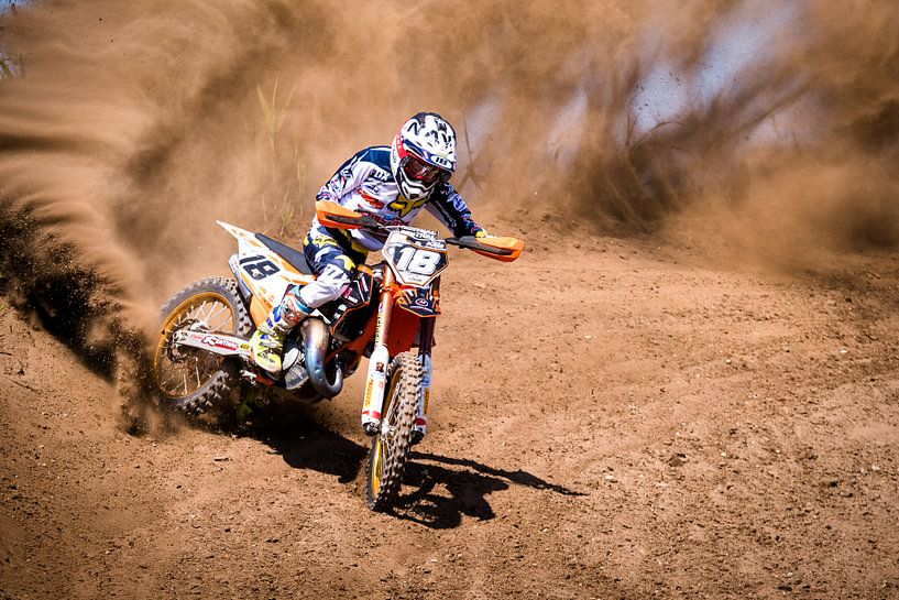 Motocross sports van Arie Bon