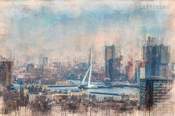 Rotterdam painted Erasmusbridge sur Arjen Roos