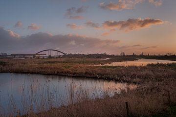 Culemborg skyline en spoorbrug van Moetwil en van Dijk - Fotografie