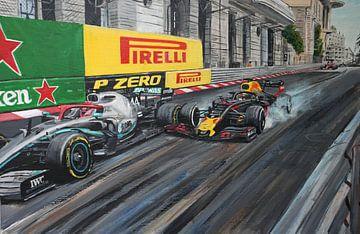 Verstappen Hamilton Mnaco 2019 sur Paul Smit