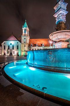 Bratislava bij nacht van Martin Wasilewski